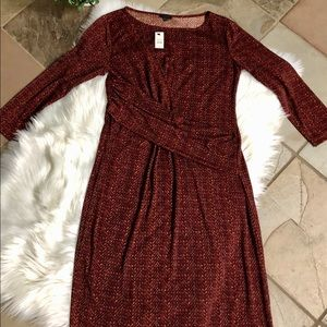 NWT Talbots Sz. M dress. Beautiful fall print. 🍁